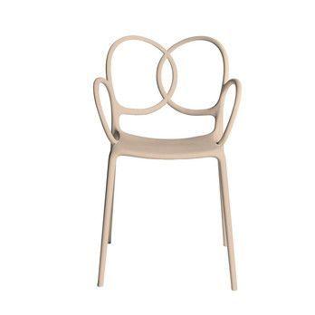 Driade - Sissi Armlehnstuhl - rosa/matt/für Innen- und Außenbereich geeignet