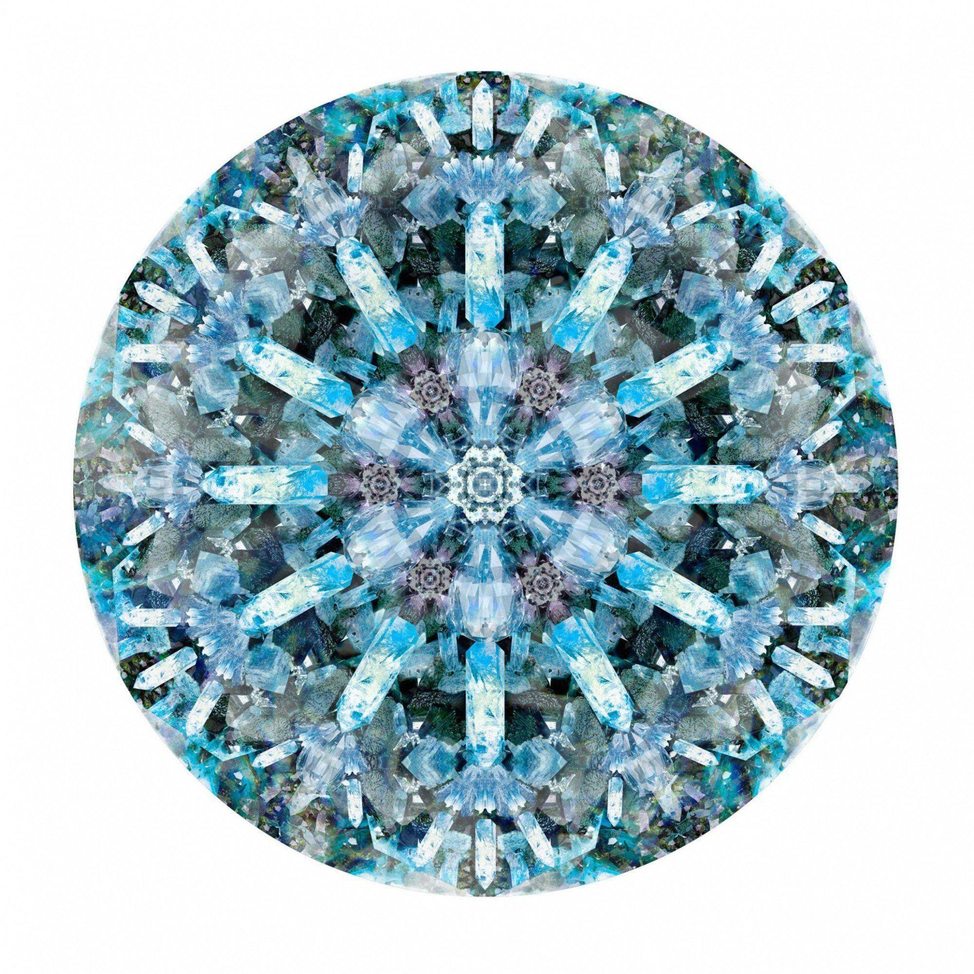Moooi Carpets   Crystal Ice Teppich Ø350cm   Blau/schwarz