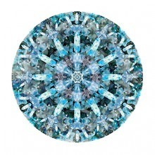 Moooi Carpets - Tapis ronde Crystal Ice