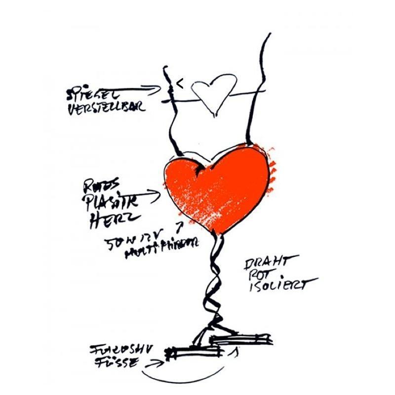 Ingo Maurer One From The Heart Tischleuchte Ambientedirect