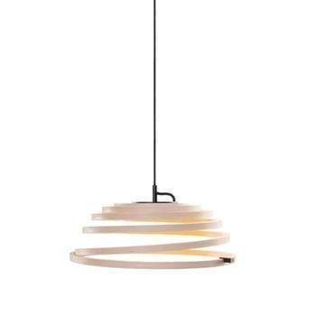 Secto Design - Aspiro 8000 LED Pendelleuchte  - Birke/Kabel schwarz/inkl. Leuchtmittel/Ø50cm/2700K/650lm