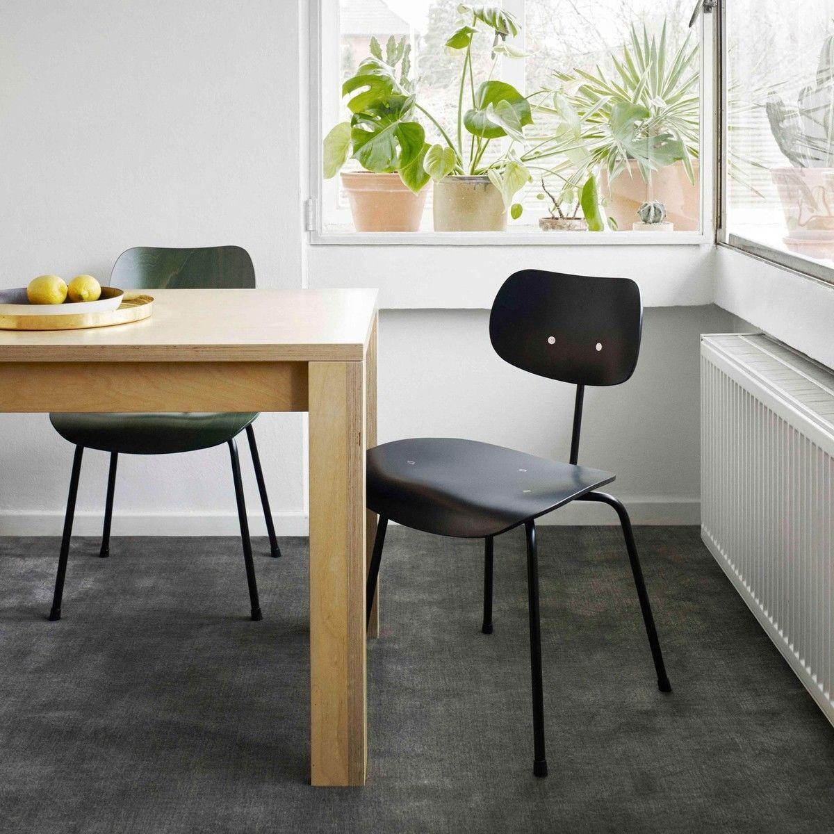 se 68 eiermann chaise support noir wilde spieth. Black Bedroom Furniture Sets. Home Design Ideas