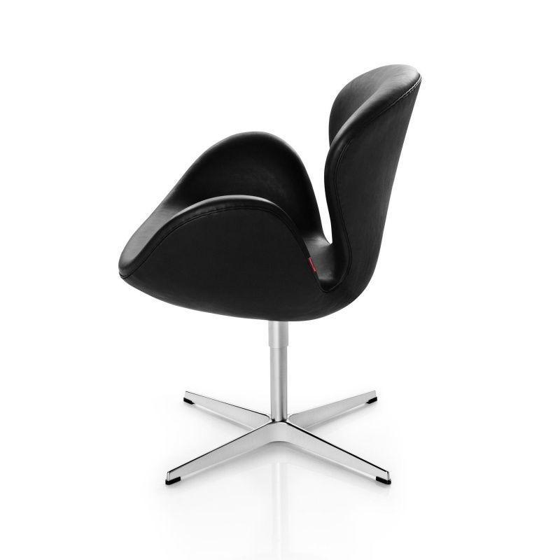 swan chair sessel leder fritz hansen. Black Bedroom Furniture Sets. Home Design Ideas