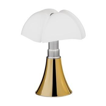 Martinelli Luce - Minipipistrello Tischleuchte - weiß/Fuß gold/2700K/700lm/mit Touch-Dimmer