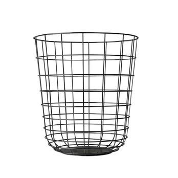 Menu - Menu Wire Bin Drahtkorb - schwarz/Aufbewahrungskorb/Ø 32cm/ H: 35cm