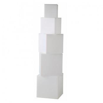 Gandia Blasco - Cubos Außenleuchte - weiß/matt/LxBxH 45x45x146cm