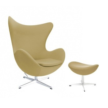 Fritz Hansen - Aktion Egg Chair/Das Ei™ Sessel + Hocker Stoff