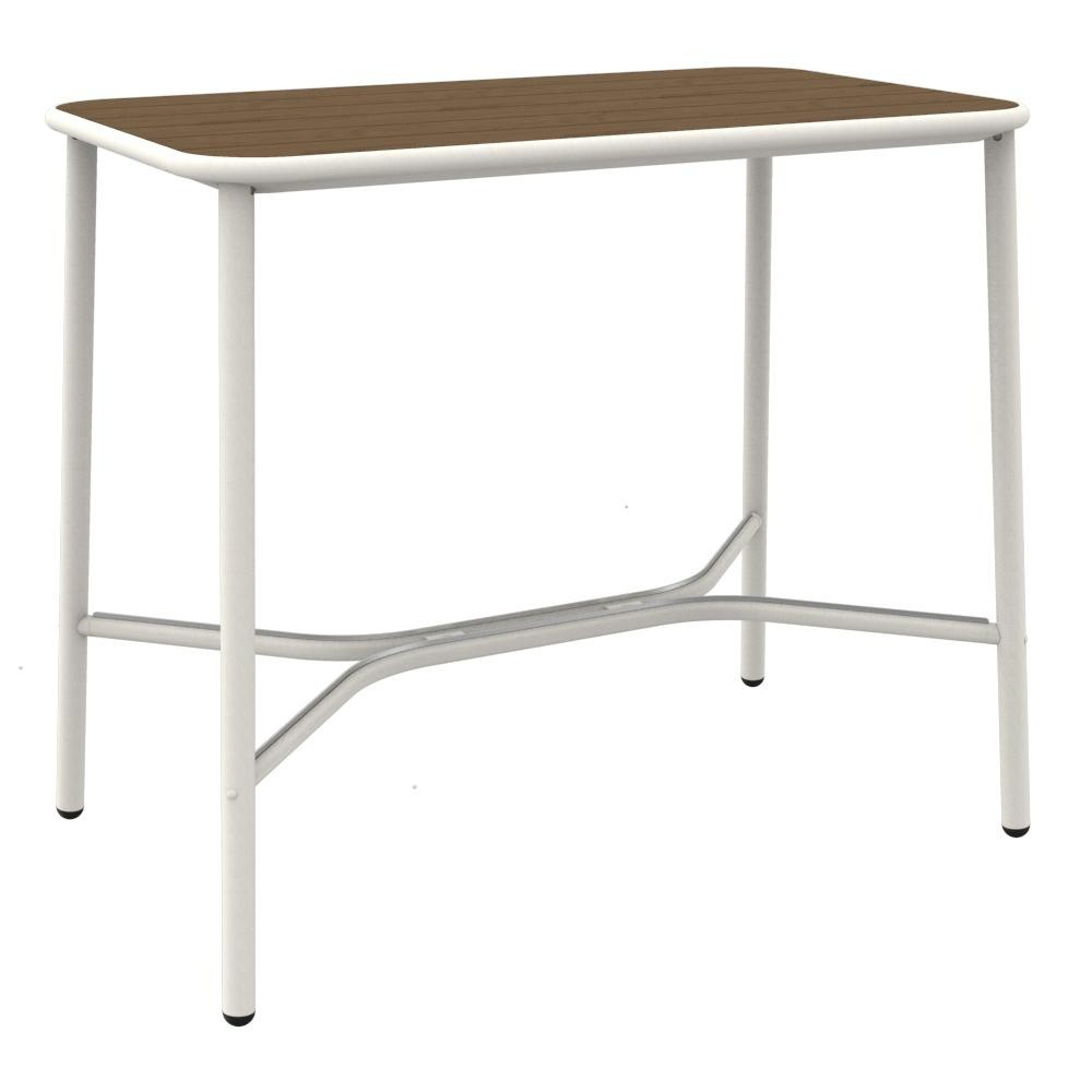 Emu Yard Garden Tail Table Ash Wood 70x120cm White Top