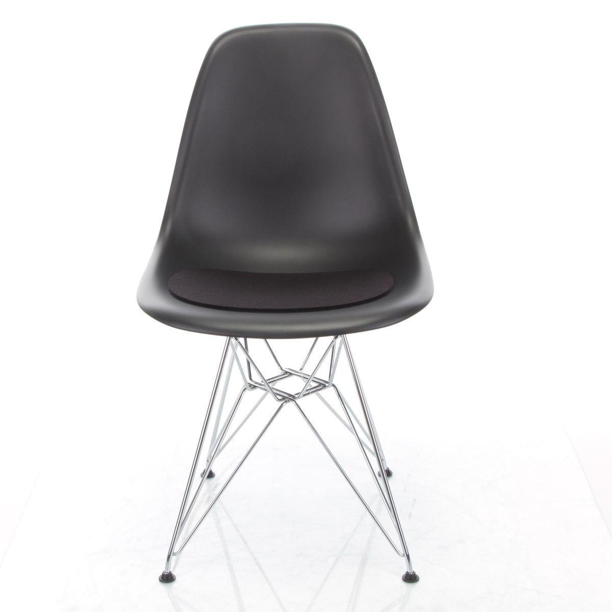 eames plastic side chair dsw ahorn schwarz 43 vitra. Black Bedroom Furniture Sets. Home Design Ideas