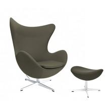 Fritz Hansen - Aktion Egg Chair/Das Ei™ Sessel + Hocker Stoff