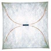 Flos - Ariette 1 Wand-/ Deckenleuchte - natur / 80x80cm/Textil/ Metall