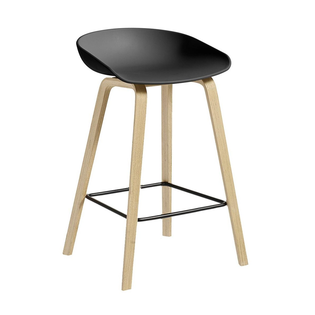 Hay About A Stool Aas 32 Bar Stool Low Soaped Oak Base Ambientedirect