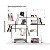 müller möbelwerkstätten - Konnex Regal Set 2 - weiß/inkl. Wandaufhängung/2 kleine + 2 mittlere + 2 große Boxen/31.2 x 31.2cm / 41.4 x 41.4cm / 51.6 x 51.6cm
