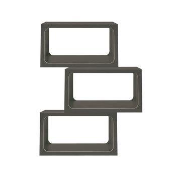 - Boxit Regal 3er Set  - anthrazit/CPL-Beschichtung/1 Modul BxHxT 80x44x35cm