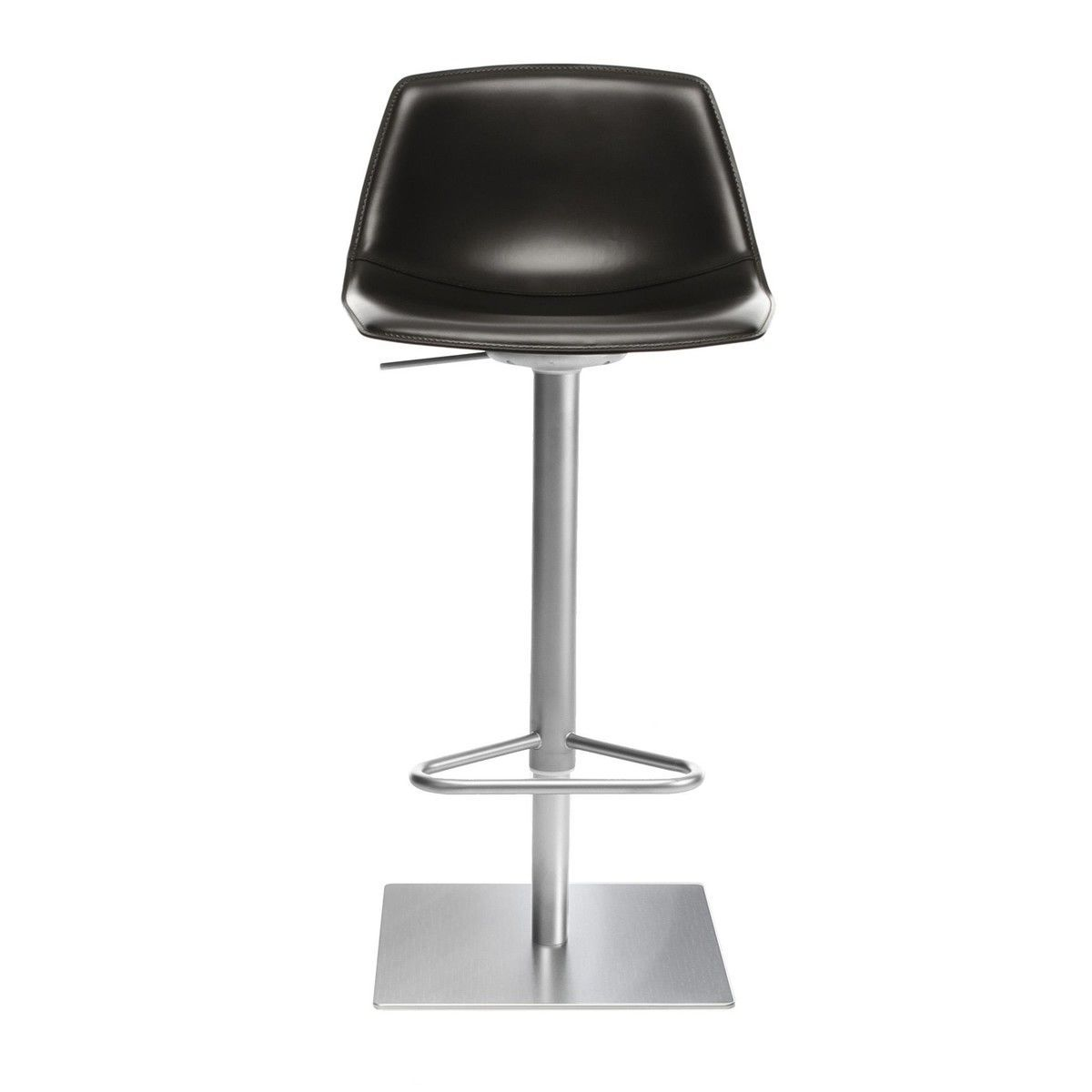 Miunn Bar Stool Stainless Steel Frame Square La Palma