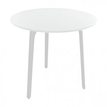 Magis - Table First Outdoor Tisch rund - weiß/weiße Tischbeine/Größe 1/Ø79,2