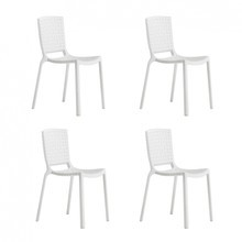 Pedrali - Tatami 305 Garden Chair Set of 4