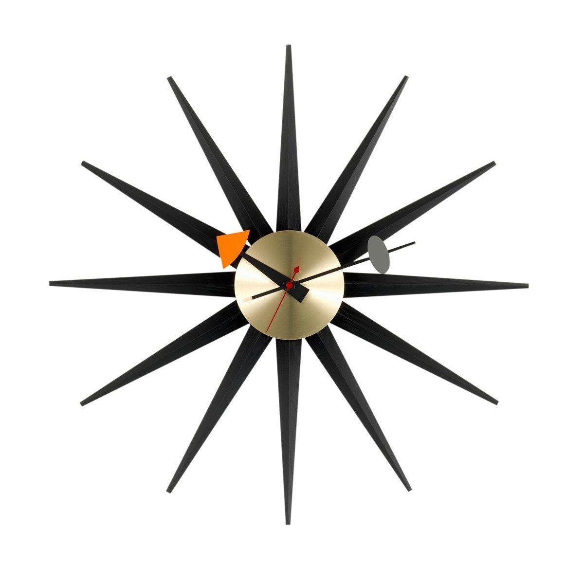 sunburst clock nelson - horloge murale | vitra | ambientedirect