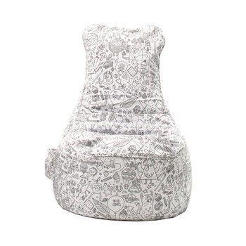 Sitting Bull - Paint Me Sitzsack - weiß/LxBxH 85x75x100cm/inkl. 10 Textilstifte