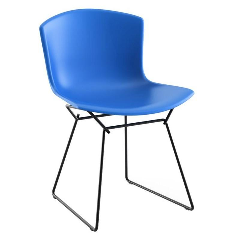 Knoll International Bertoia Plastic Stuhl Gestell Schwarz