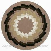designercarpets - Diamand 1 Teppich - multicolor/Schurwolle/Größe 1/Ø200cm