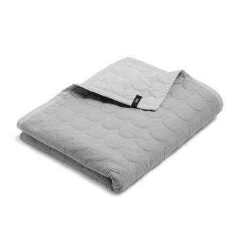 hay mega dot quilt tagesdecke hellgrau 195x245cm. Black Bedroom Furniture Sets. Home Design Ideas