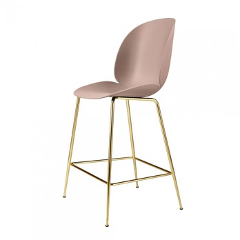 Gubi - Beetle Counter Chair Gestell Messing 108cm