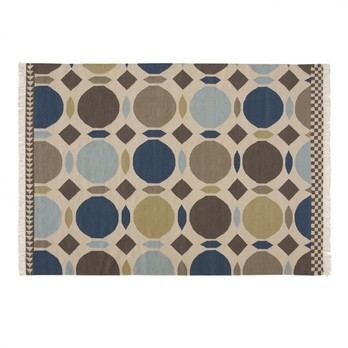 GAN - Kilim Canadà Teppich  - blau/braun/beige/200x300cm