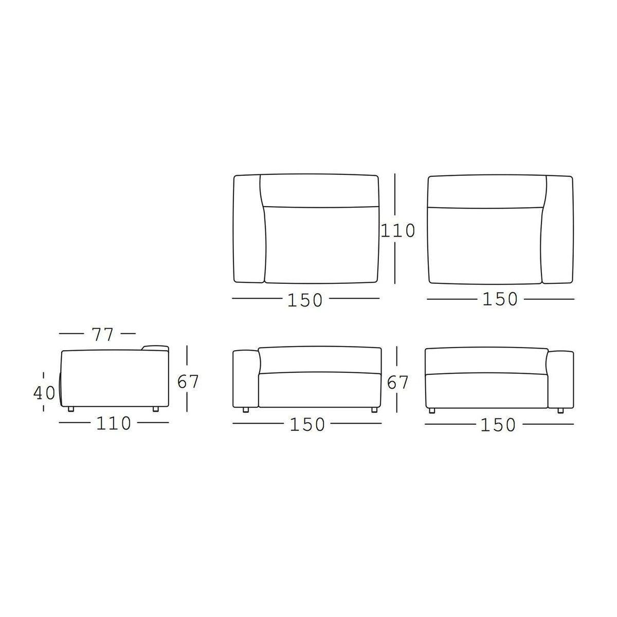 freistil 187 3 sitzer ledersofa freistil rolf benz. Black Bedroom Furniture Sets. Home Design Ideas