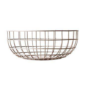 Menu - Norm Wire Bowl Drahtkorb - nude/pulverbeschichtet/H 10cm, Ø 25cm
