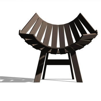 Moooi - Clip Chair - dark brown/stained
