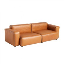 HAY - Mags Soft 2,5 Seater Sofa Low Armrest Leather