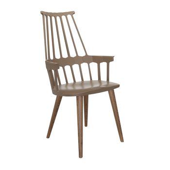 Kartell - Comback Chair Gestell Esche - haselnuss braun/Gestell Esche in Eiche gebeizt