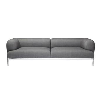 HAY - Bjørn 3 Sitzer Sofa - grau/Stoff Remix 143/227,6x79x67,5cm/Gestell chrom