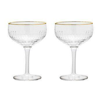 Bloomingville - Golden Times Champagner Glas 2er Set - transparent/beschichtet/270ml