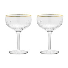 Bloomingville - Golden Times Champagner Glass Set Of 2