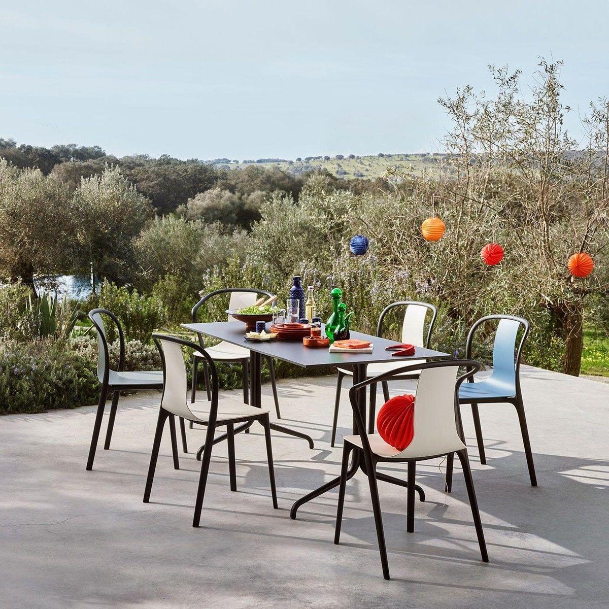 Belleville chair plastic chaise de jardin vitra erwan bouroullec ambi - Chaise de jardin pvc ...
