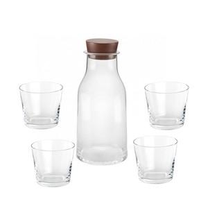 Alessi - Tonale Set Karaffe und 4 Gläser - transparent