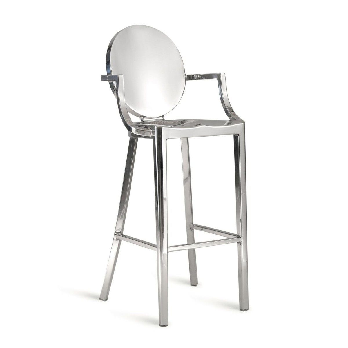 kong barstool with armrests  emeco  ambientedirectcom - emeco  kong barstool with armrests  aluminiumpolishedseat heigt  cm