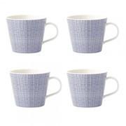 Royal Doulton - Set de 4 tasses Pacific Dots