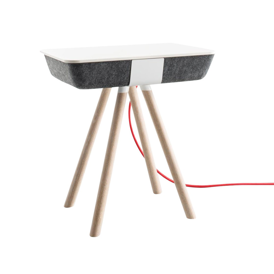 Sidetable Wit Hout.Pad Side Table With Without Charging Function