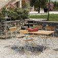 Jan Kurtz - Lucca Gartenset - feuerverzinkt/Teakholz/Klapptisch 120x70cm/4 Klappstühle