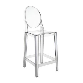 Kartell - One More Barhocker 65cm - glasklar/transparent
