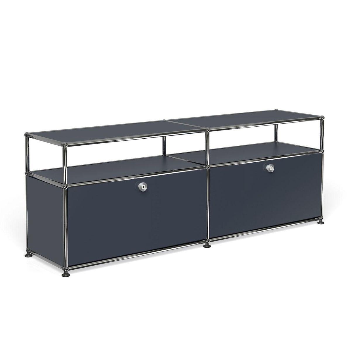usm lowboard con 2 puertas bajas usm haller. Black Bedroom Furniture Sets. Home Design Ideas