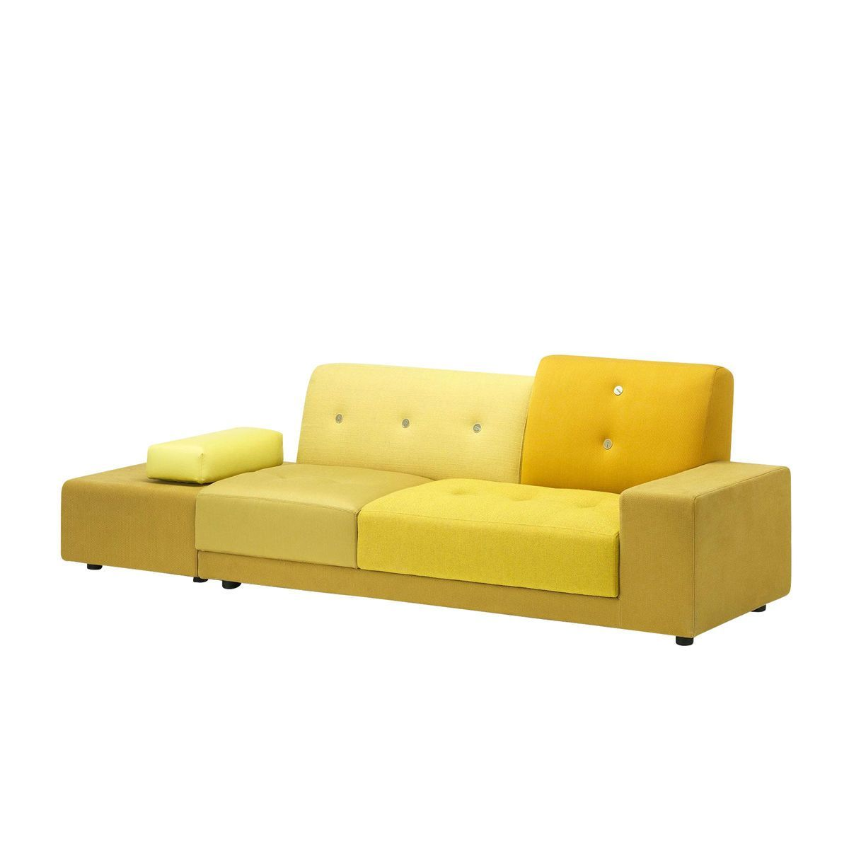 polder sofa  vitra  ambientedirectcom - vitra  polder sofa xcm  fabric mix golden yellow