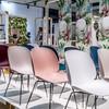 Gubi - Beetle Dining Chair Stuhl Gestell Chrom