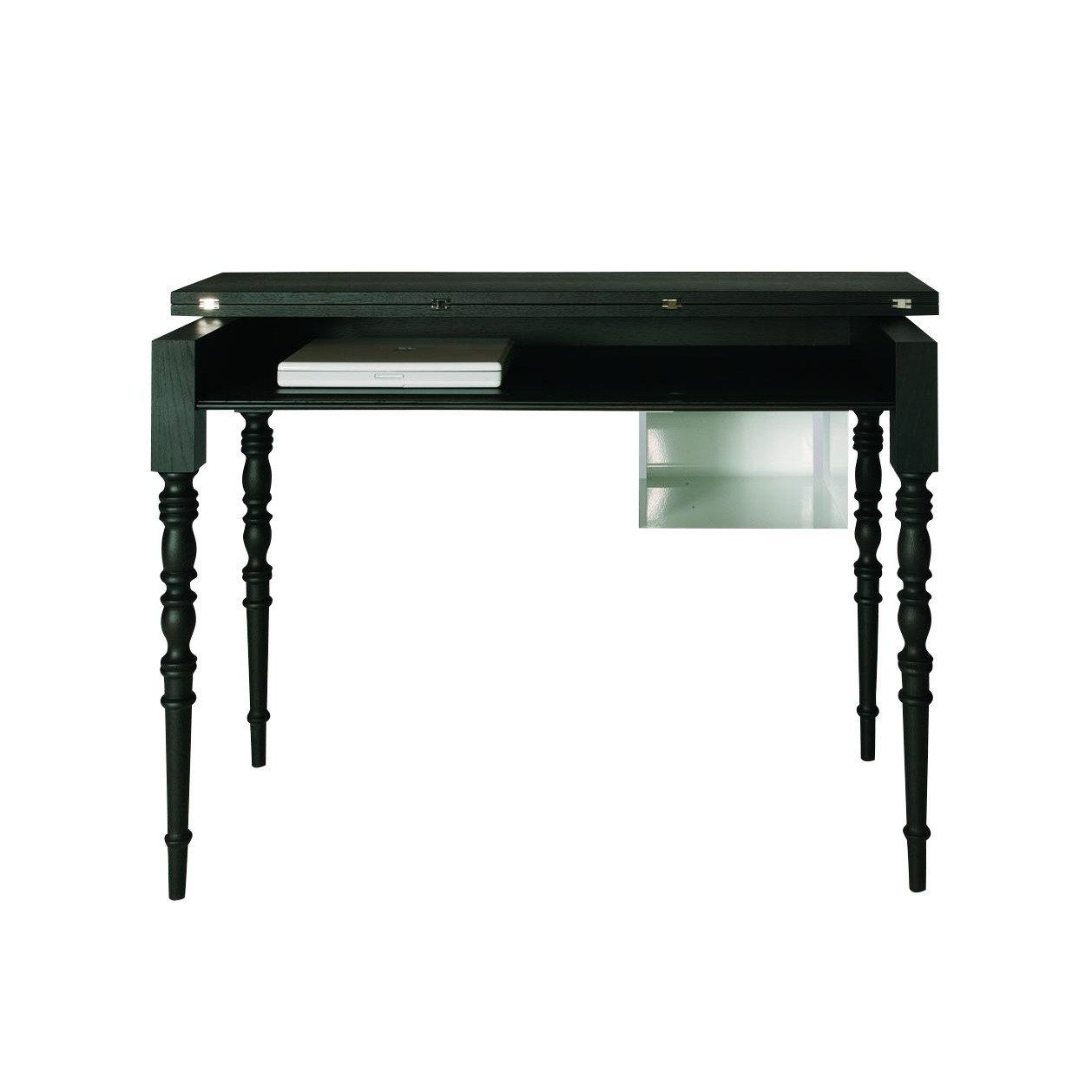 Moooi Two Tops Secretary Desk Table Black Stained 120x60xcm