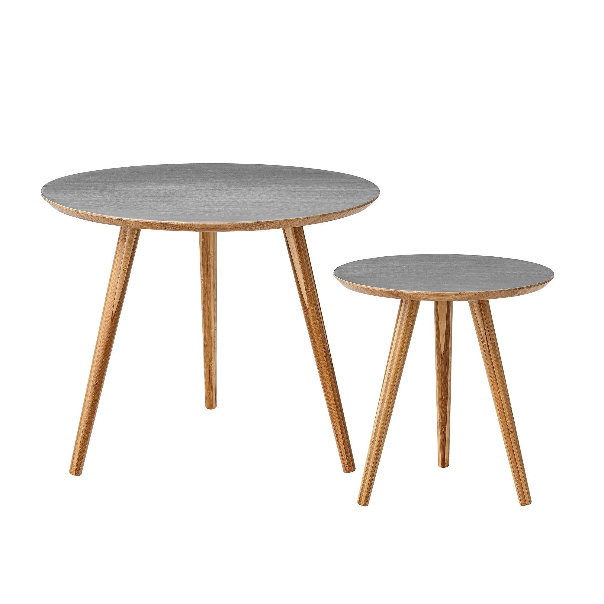 Bloomingville Bamboo Set Of 2 Side Tables Ambientedirect