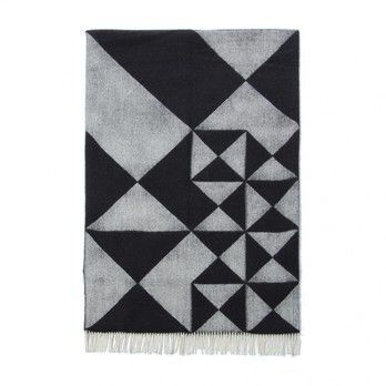 VerPan - Mirror Throw Plaid/Tagesdecke - schwarz/190x130cm