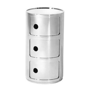 Kartell - Componibili 3 Metallic Container - chrom/glänzend